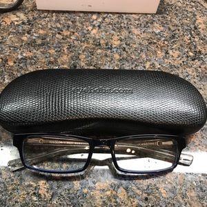 Eyebobs readers - dark navy 1.0- with case.